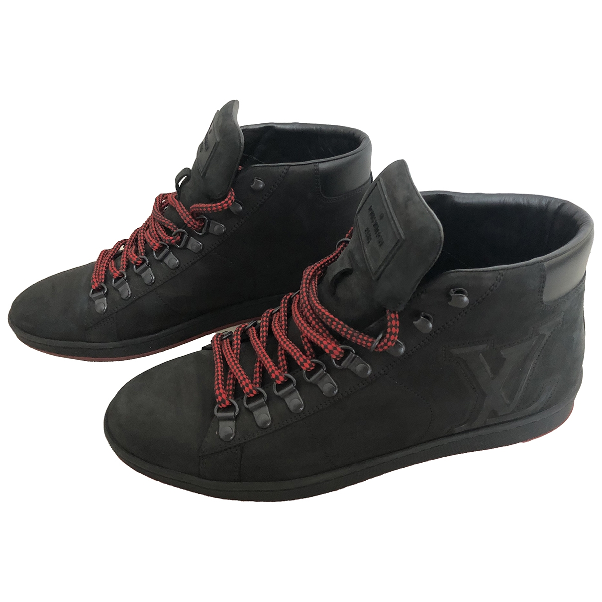 Louis Vuitton \N Black Cloth Trainers for Men 6 UK