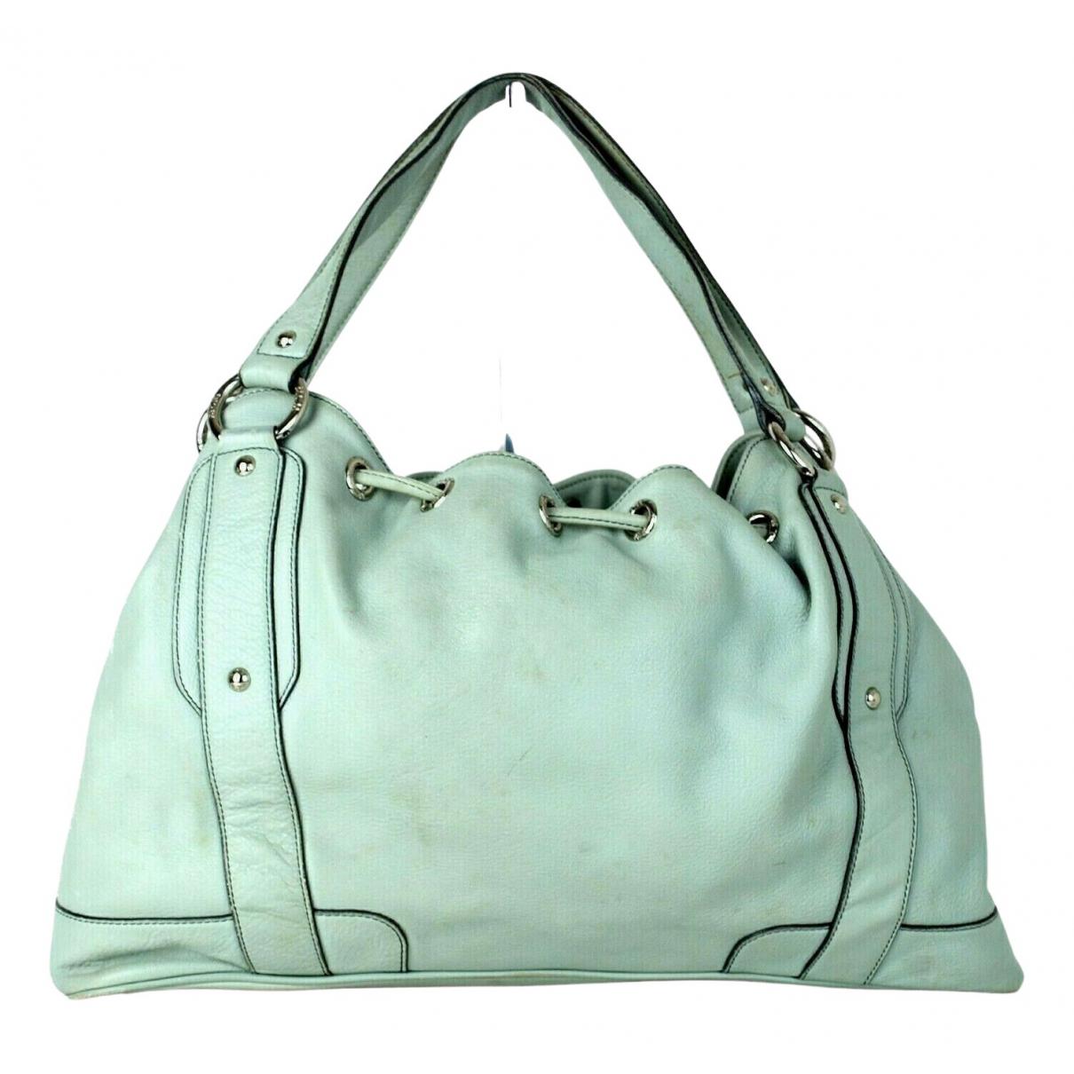 Mcm \N Handtasche in  Gruen Leder