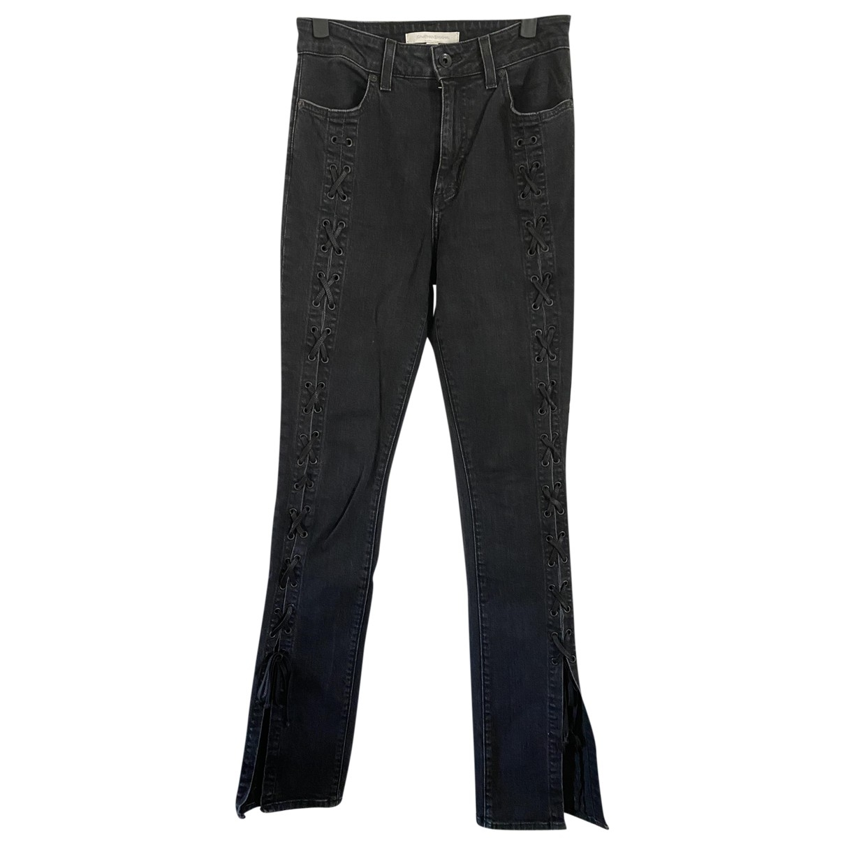 Jonathan Simkhai \N Black Cotton - elasthane Jeans for Women 26 US