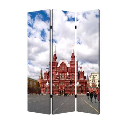 BM26544 Russian Tower Print Foldable Canvas Screen with 3 Panels