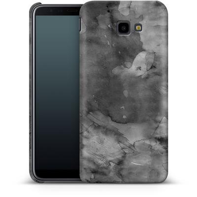 Samsung Galaxy J4 Plus Smartphone Huelle - Black Watercolor von Emanuela Carratoni