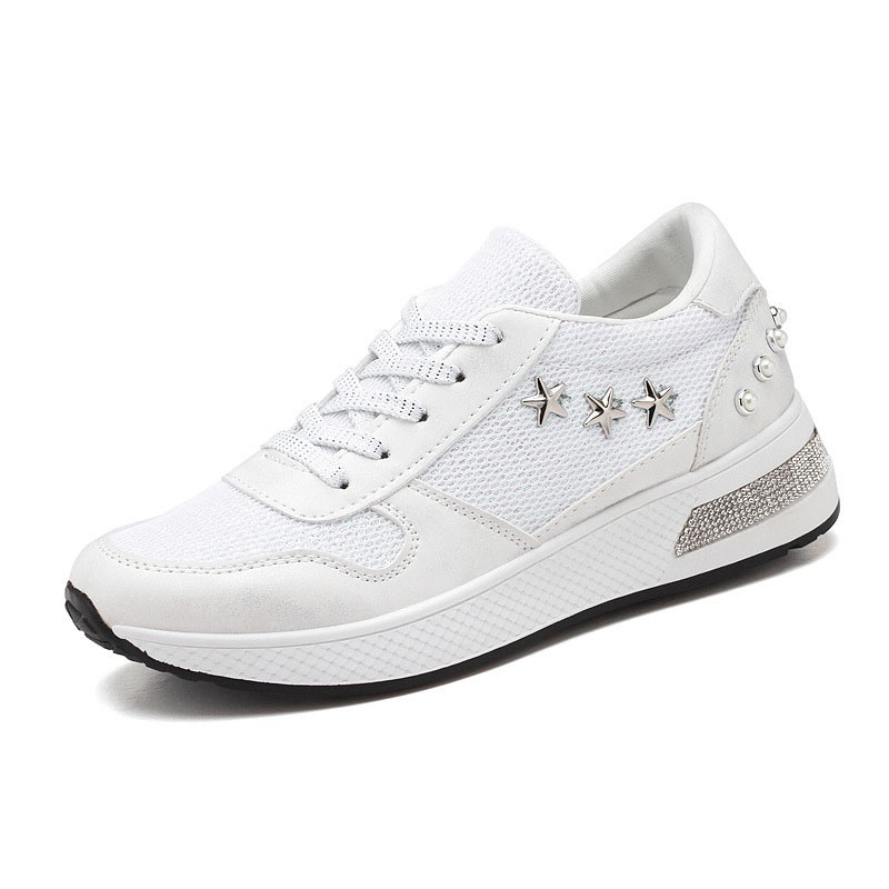 Ericdress Round Toe Thread Lace-Up Patchwork Sneakers