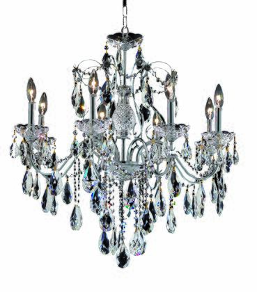 2016D26C/SA 2016 St. Francis Collection Hanging Fixture D26in H23in Lt: 8 Chrome Finish (Swarovski Spectra
