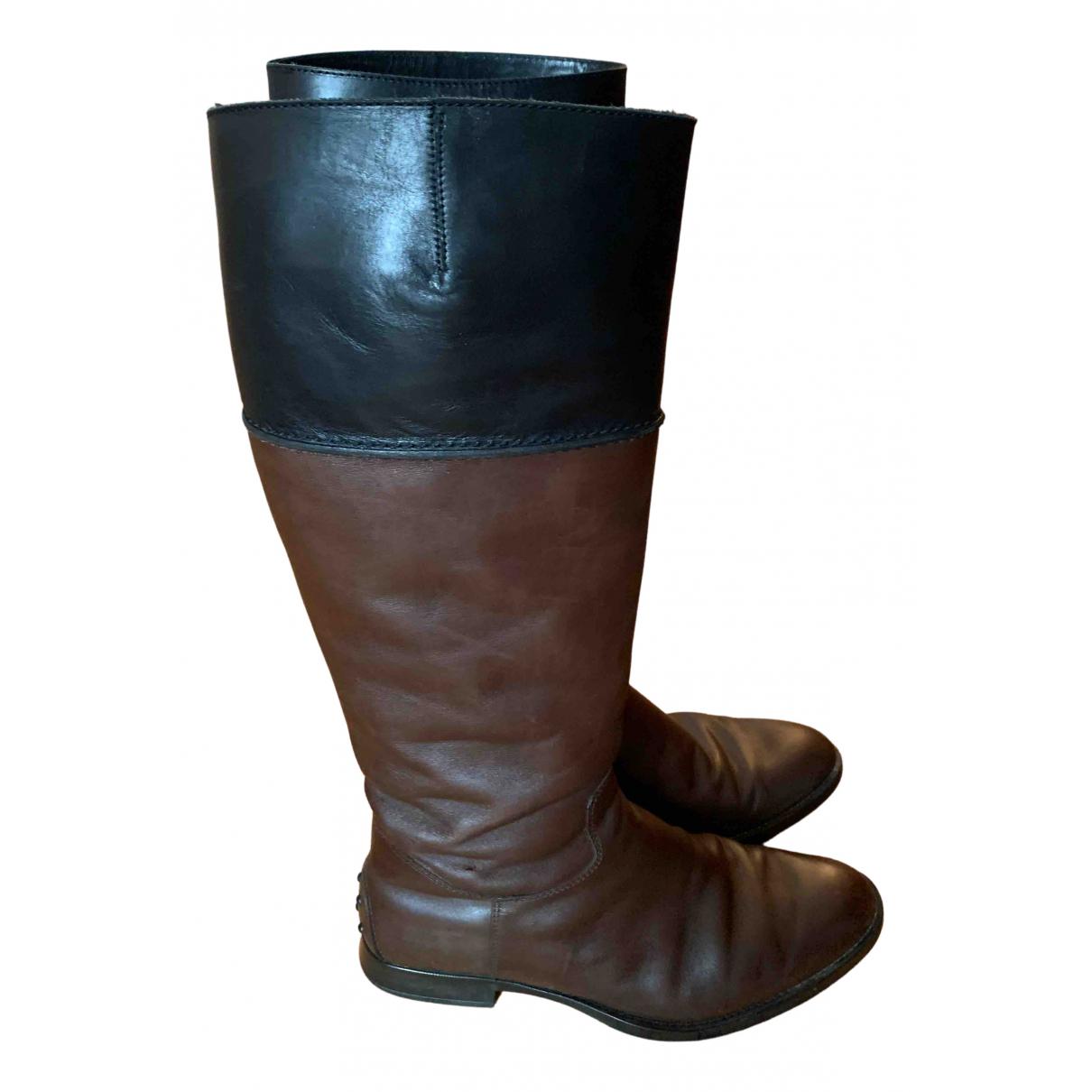 Tods \N Stiefel in  Braun Leder
