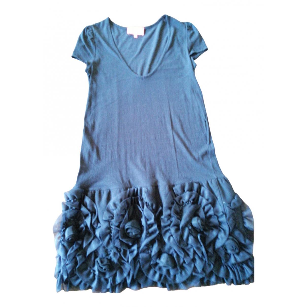 Manoush - Robe   pour femme en lin - noir
