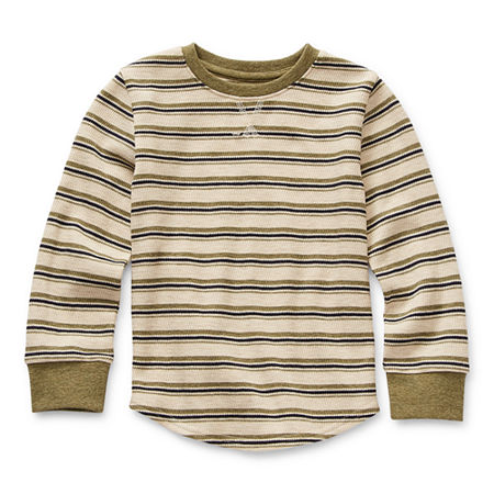 Okie Dokie Toddler Boys Long Sleeve Thermal, 4t , Green