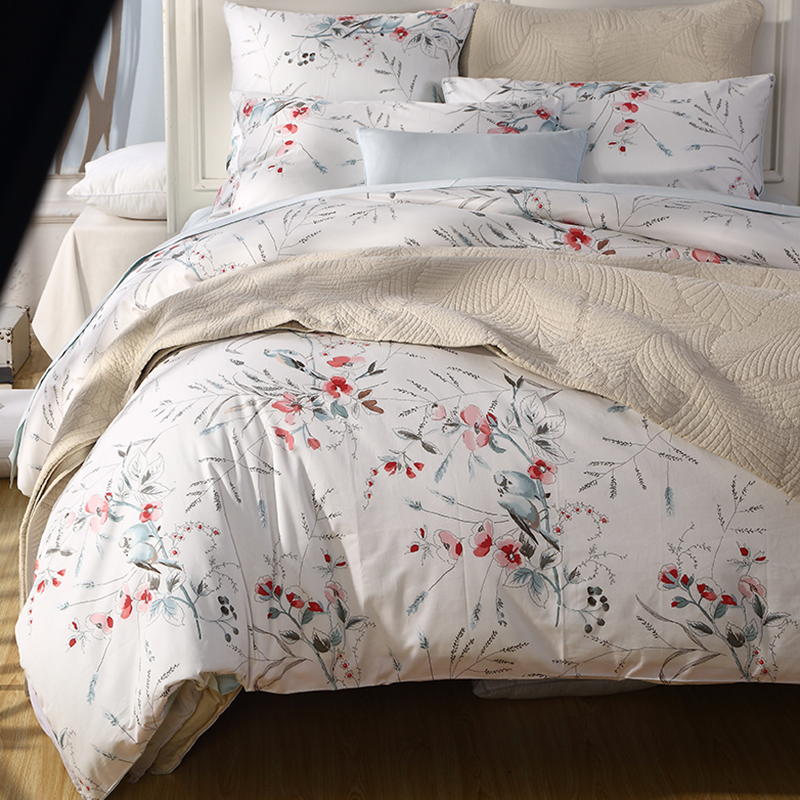 Animal Duvet Cover Set Animal Reactive Printing Four-Piece Set Polyester Bedding Sets Fitted Sheet