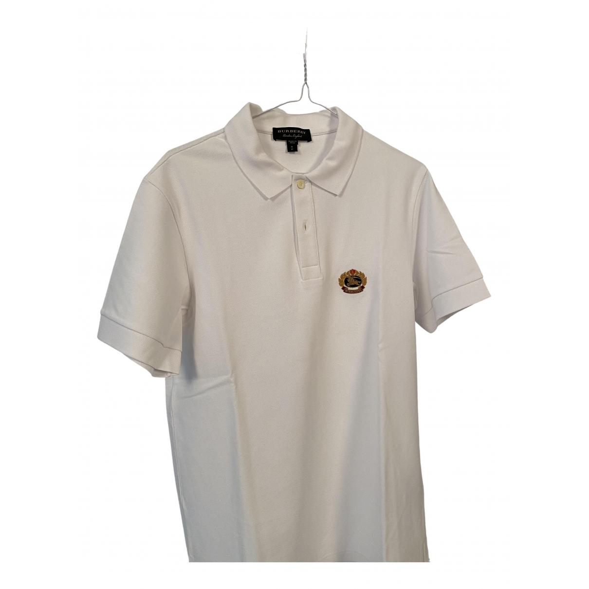 Burberry - Polos   pour homme en coton - blanc