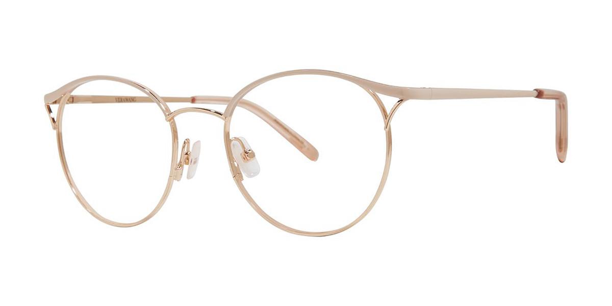 Vera Wang V552 Powder Pink Men's Glasses Gold Size 49 - Free Lenses - HSA/FSA Insurance - Blue Light Block Available