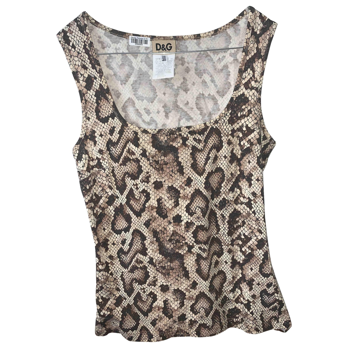 D&g \N Top in  Beige Baumwolle