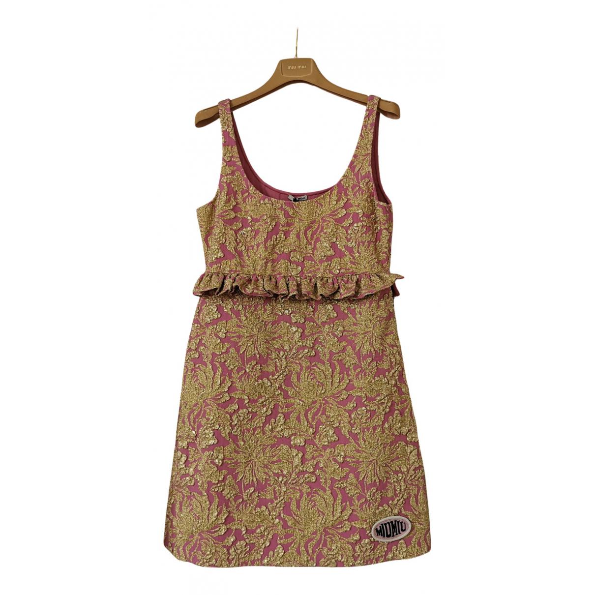 Miu Miu \N Kleid in  Rosa Baumwolle - Elasthan