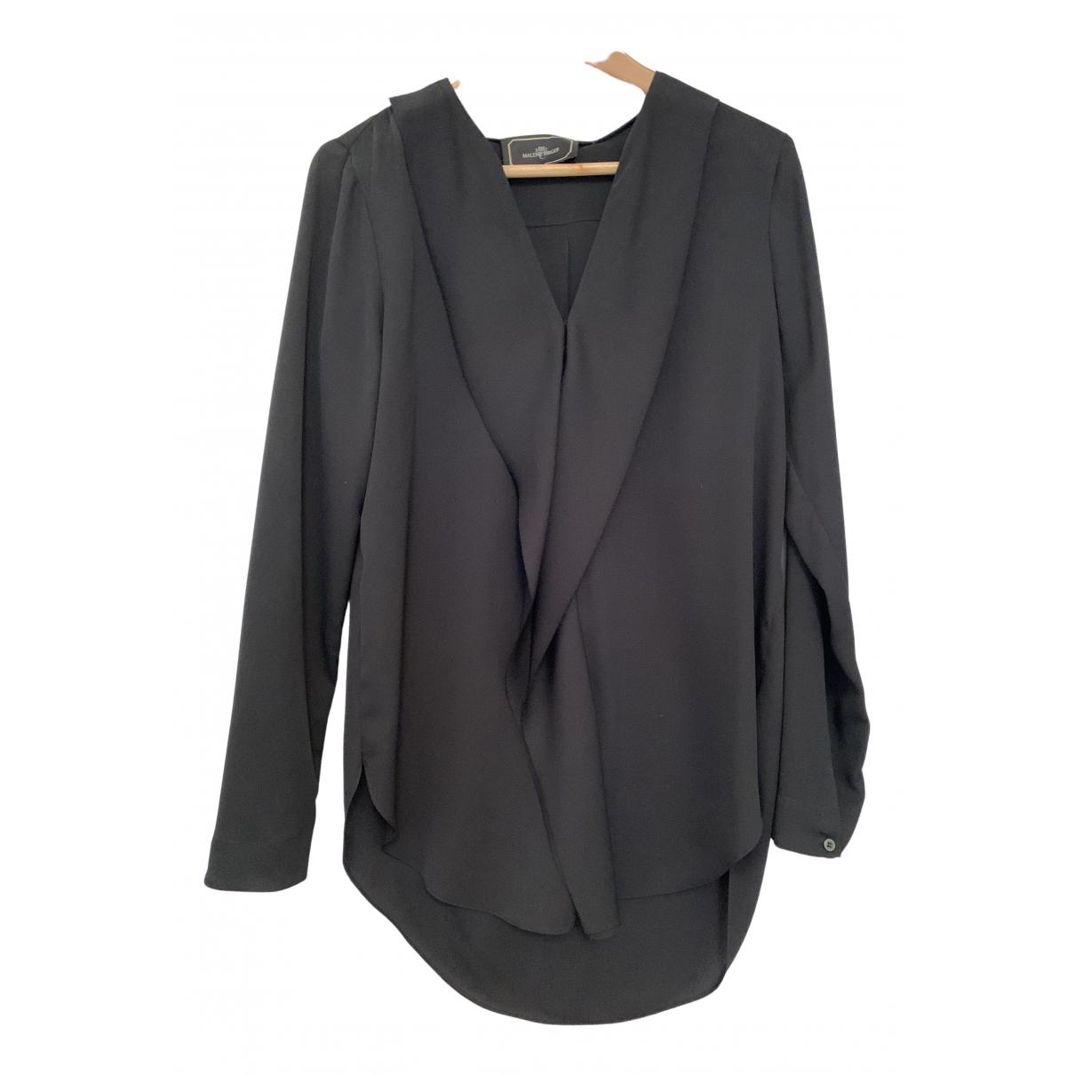 By Malene Birger - Top   pour femme en soie - noir