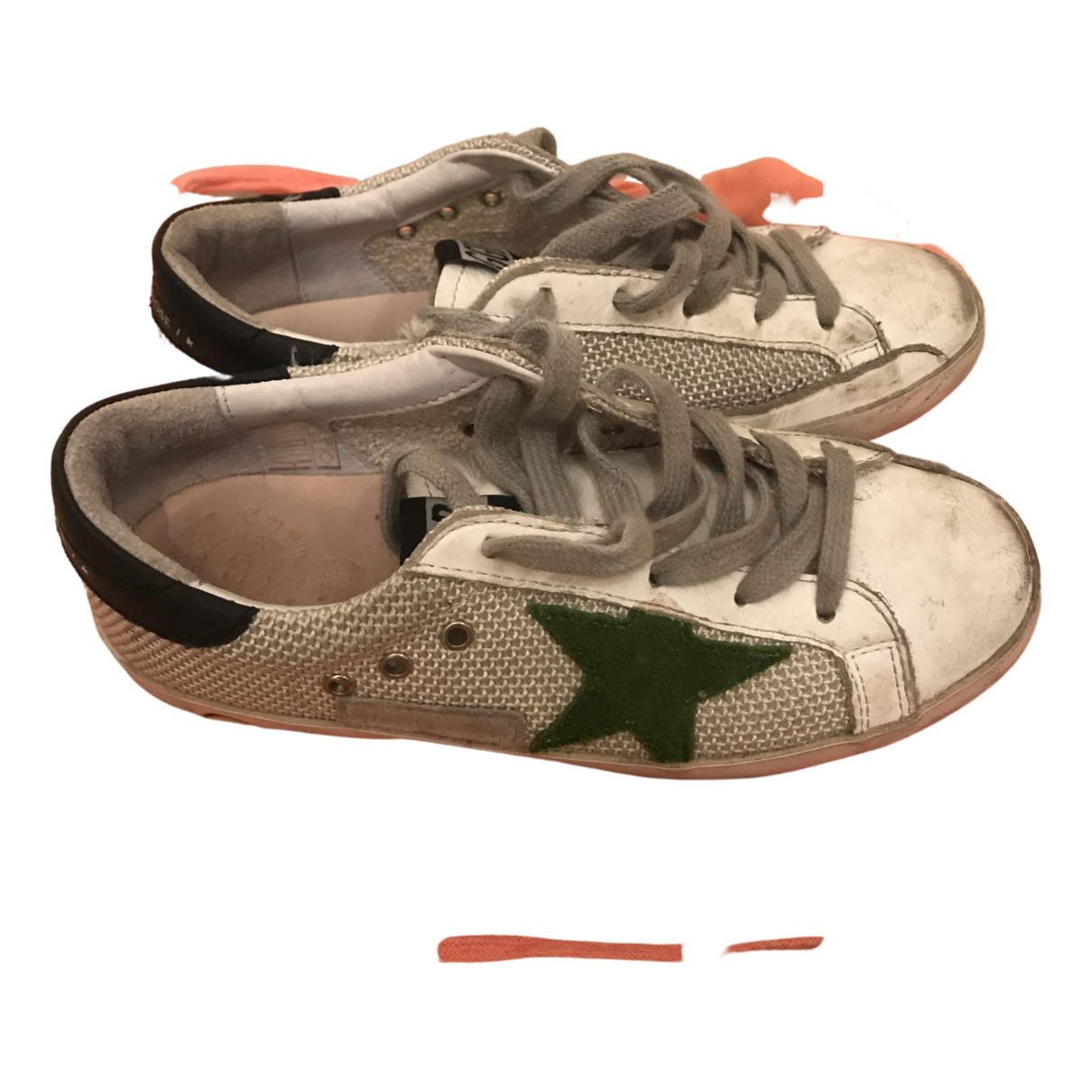 Golden Goose Superstar White Cloth Trainers for Kids 33 FR