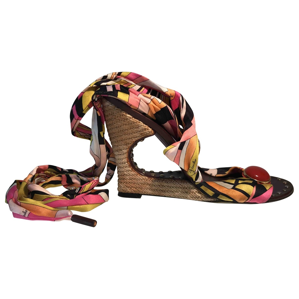 Emilio Pucci \N Multicolour Cloth Sandals for Women 40 EU