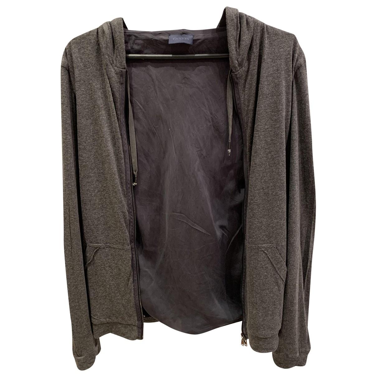 Lanvin \N Pullover.Westen.Sweatshirts  in  Anthrazit Seide