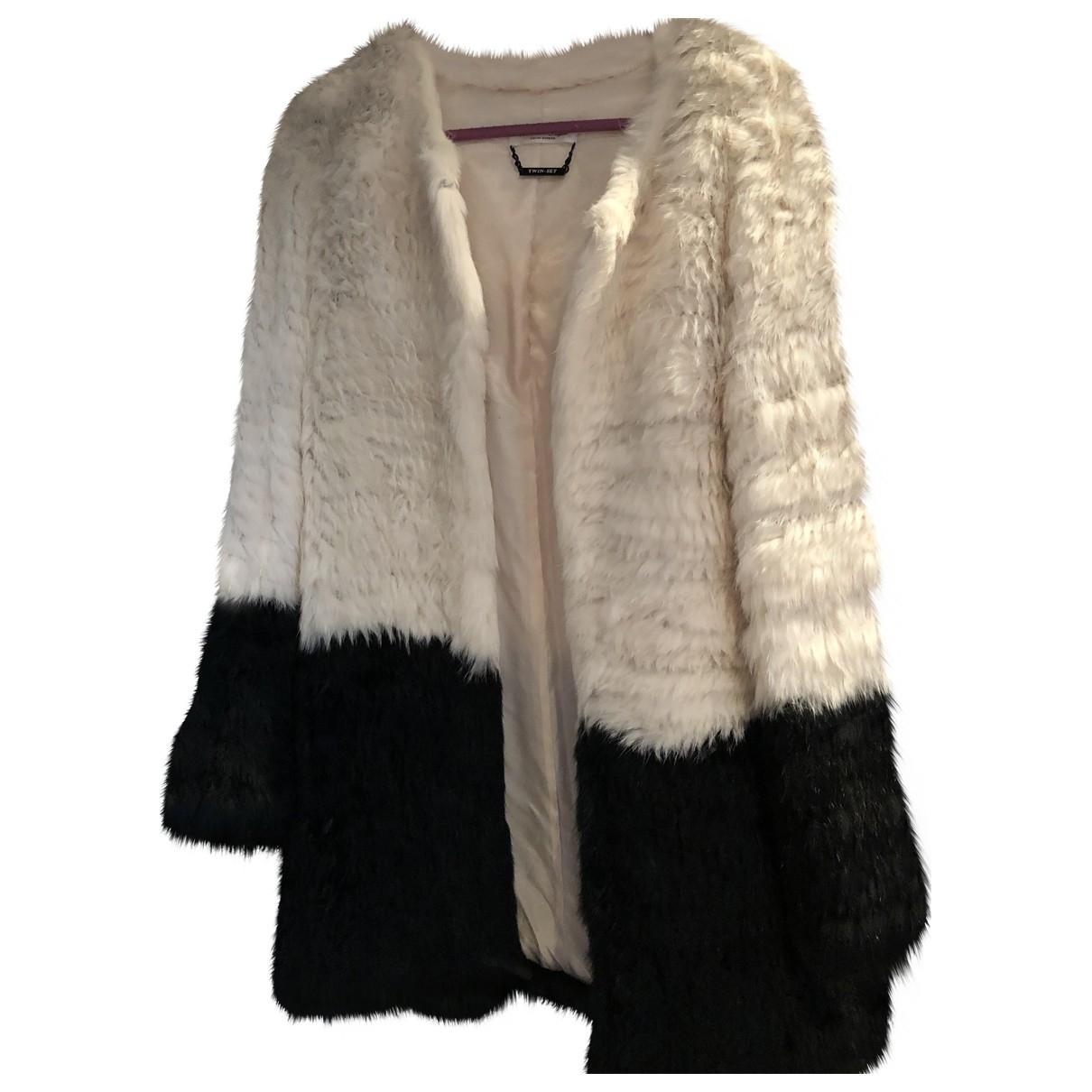 - Manteau   pour femme en fourrure - blanc