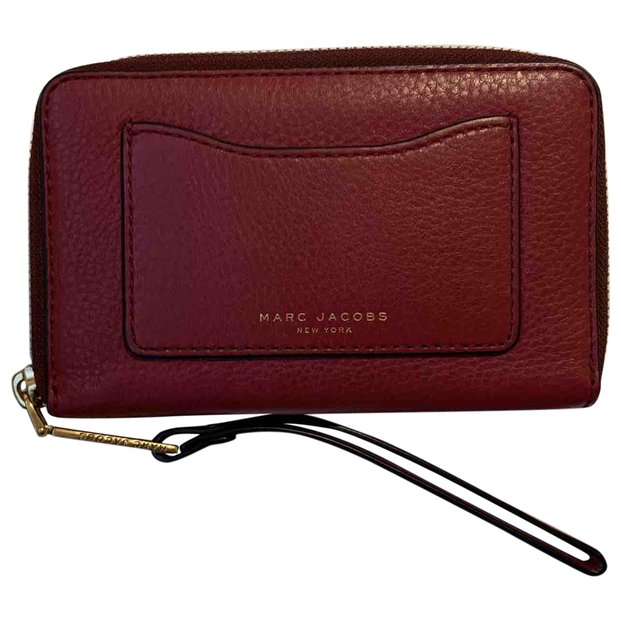 Marc Jacobs \N Portemonnaie in  Bordeauxrot Leder