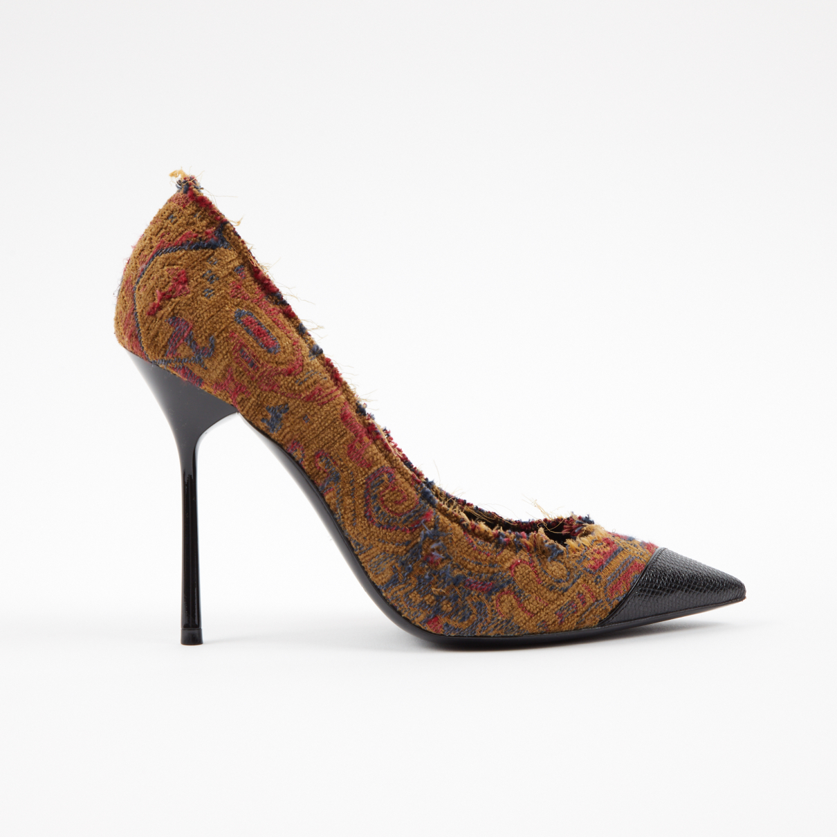 Saint Laurent Anja Multicolour Cloth Heels for Women 39 EU