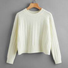 Solid Ribbed Sweater