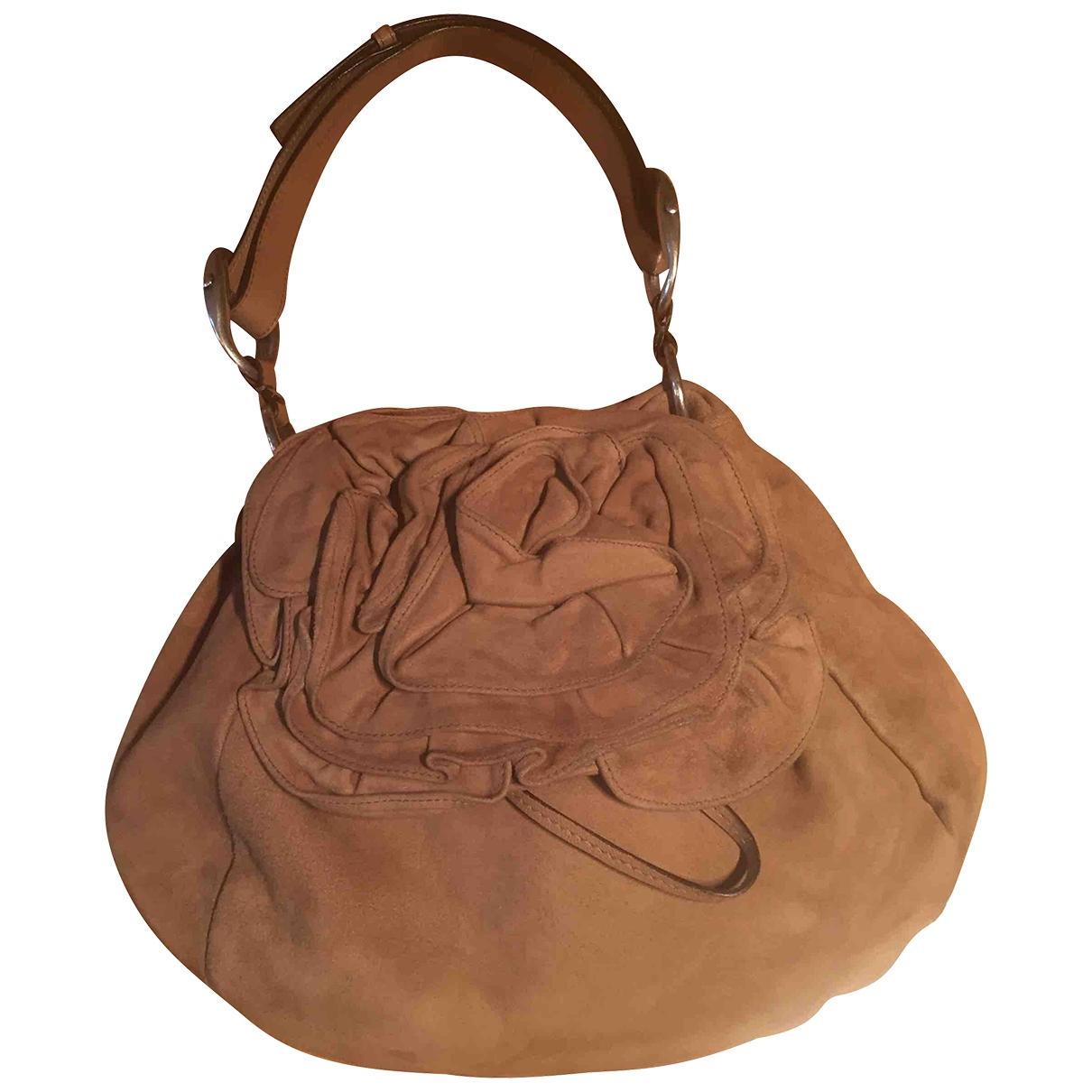 Yves Saint Laurent \N Handtasche in  Beige Veloursleder