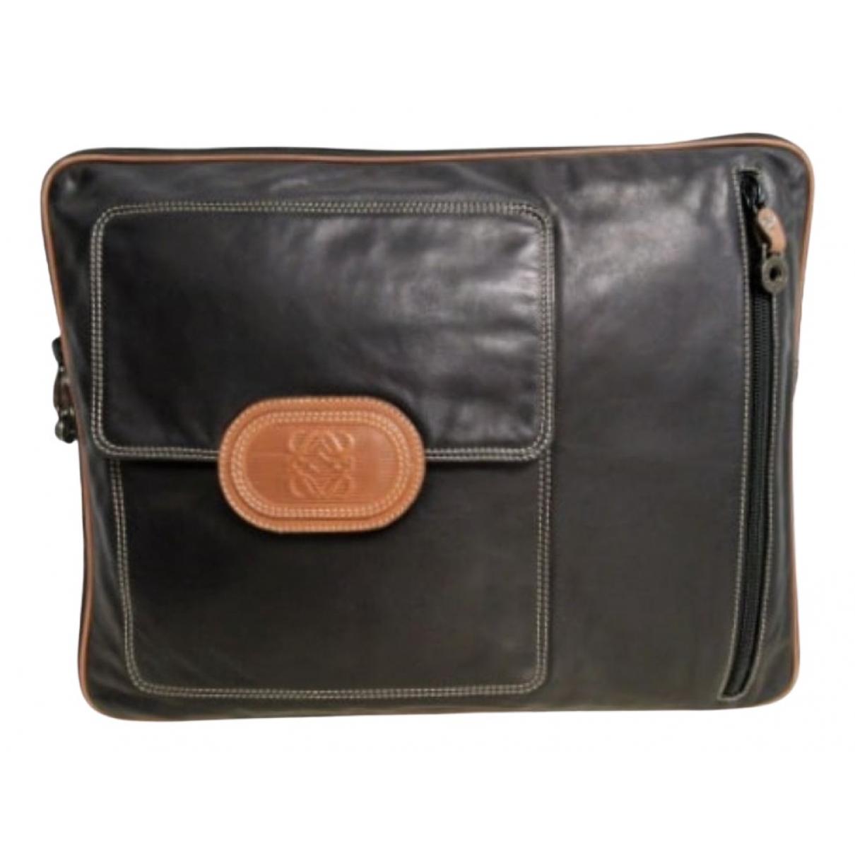 Loewe N Black Leather bag for Men N