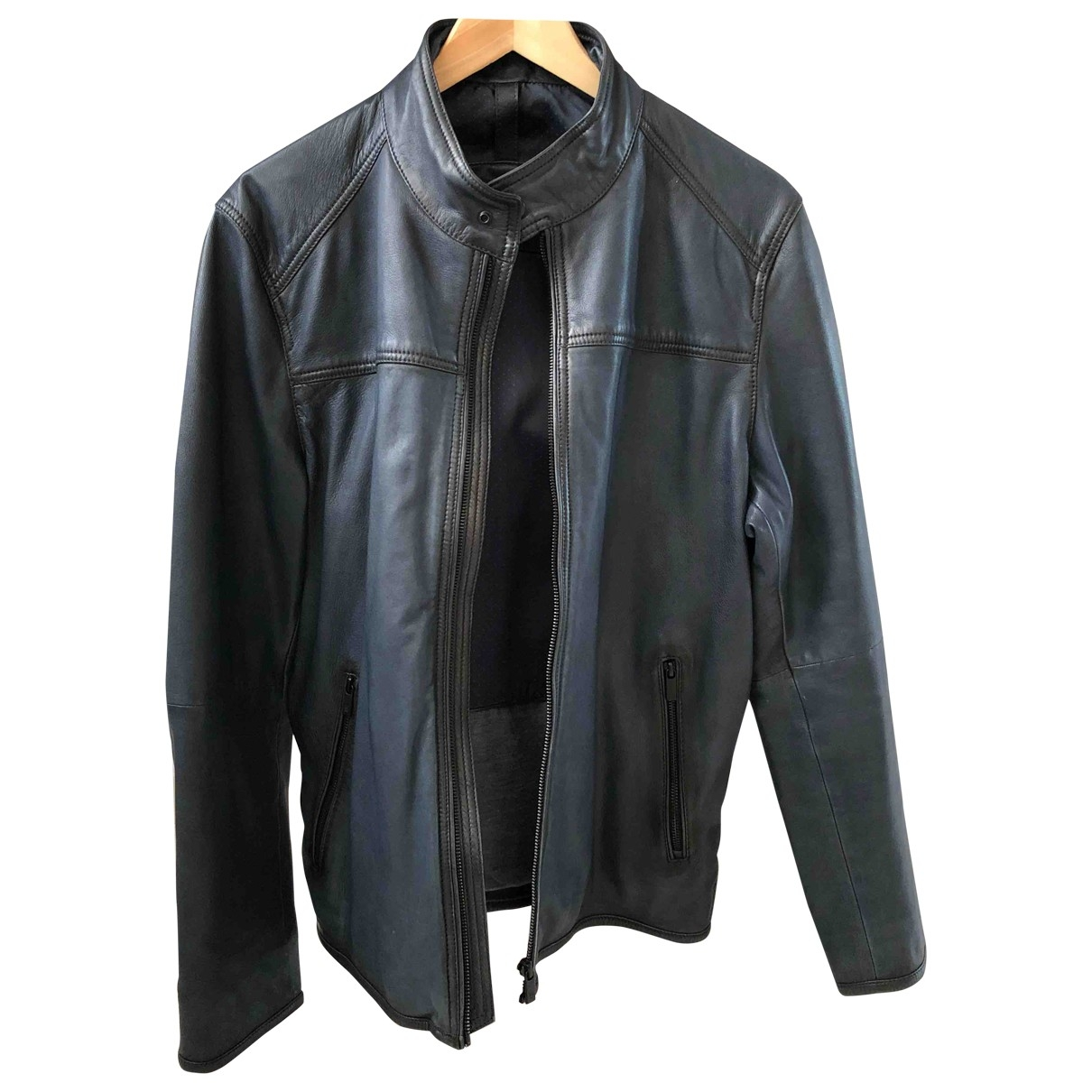 Massimo Dutti \N Blue Leather jacket  for Men L International