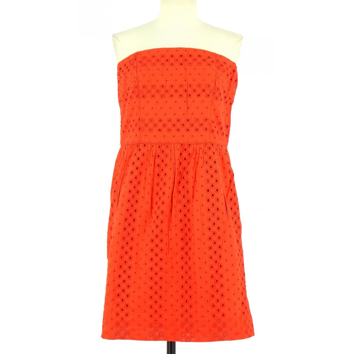 Comptoir Des Cotonniers - Robe   pour femme en coton - orange