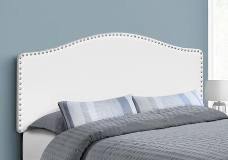 I 6012Q Bed - Queen Size White Leather-Look Headboard
