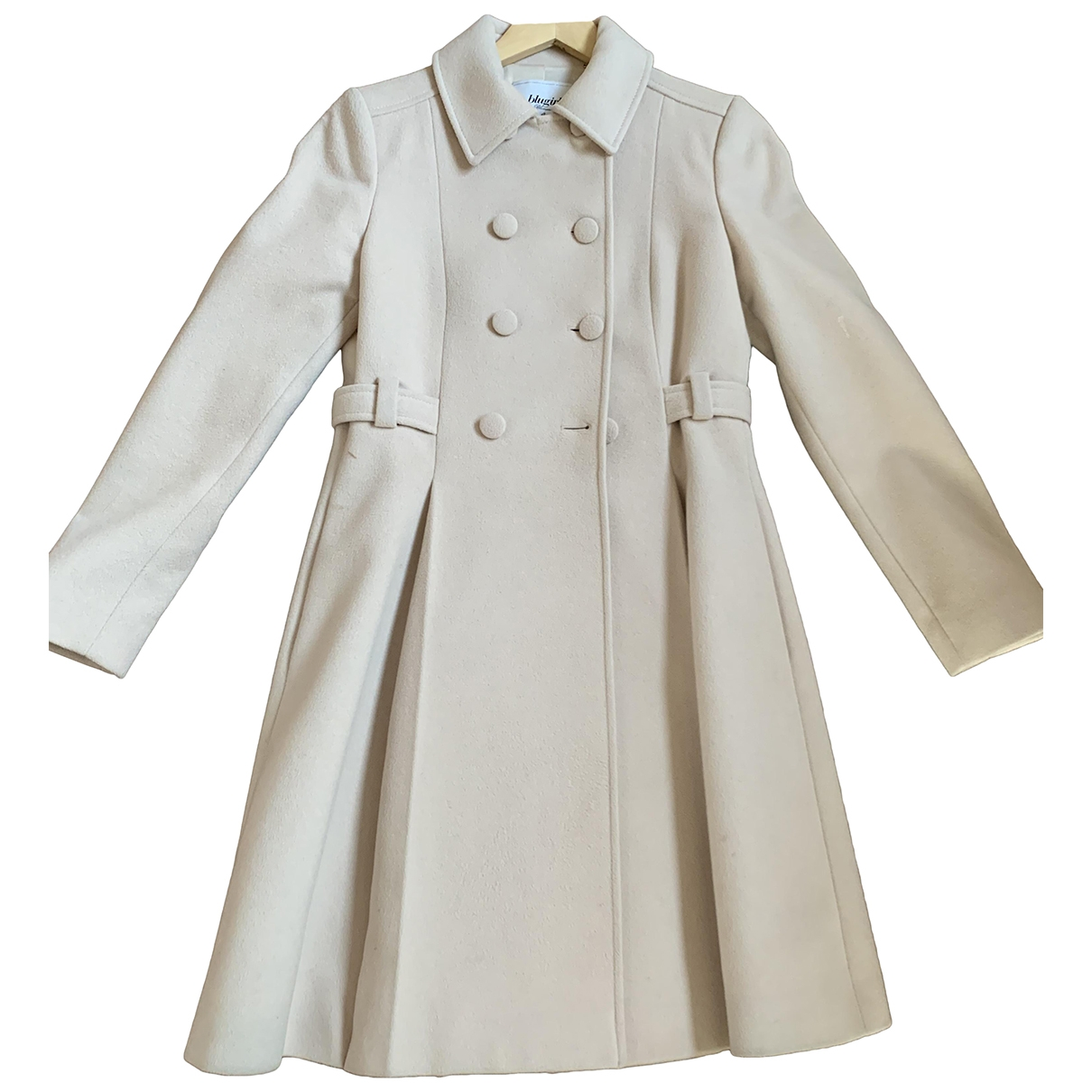Blumarine \N Beige Wool coat for Women 40 IT