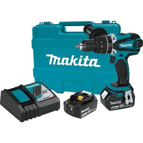 Makita 18V LXT Lithium-Ion Cordless 1/2 in. Driver-Drill Kit (4.0Ah)