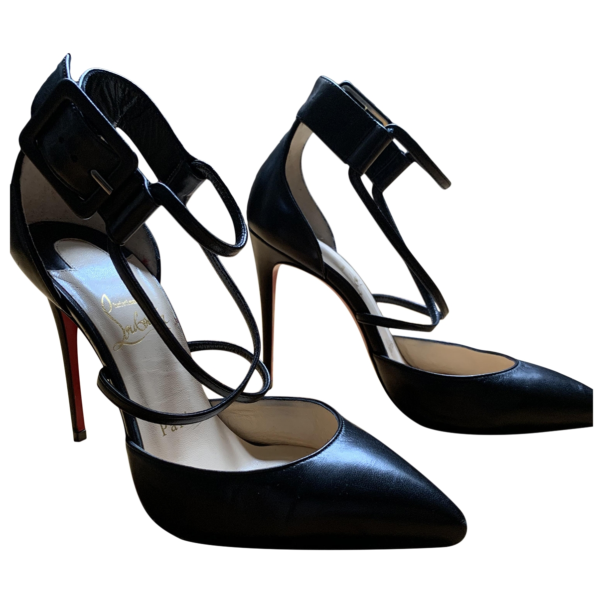 Christian Louboutin \N Black Leather Heels for Women 36 EU