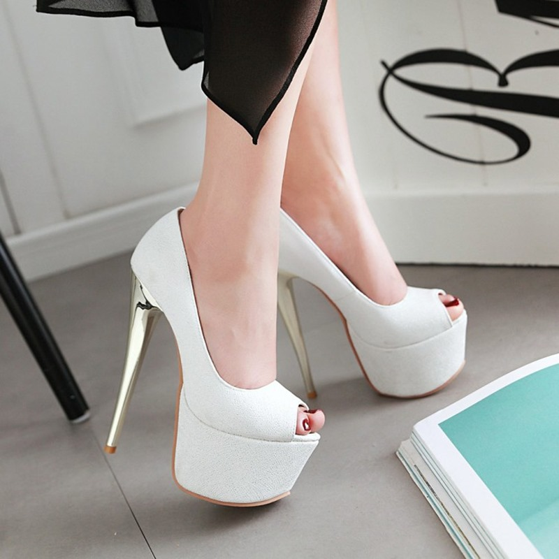 Ericdress Peep Toe Slip-On Stiletto Heel Low-Cut Upper Thin Shoes
