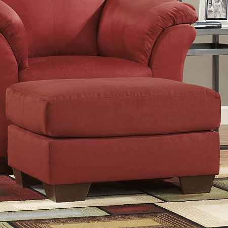 Signature Design by Ashley Audrey Ottoman, One Size , Red