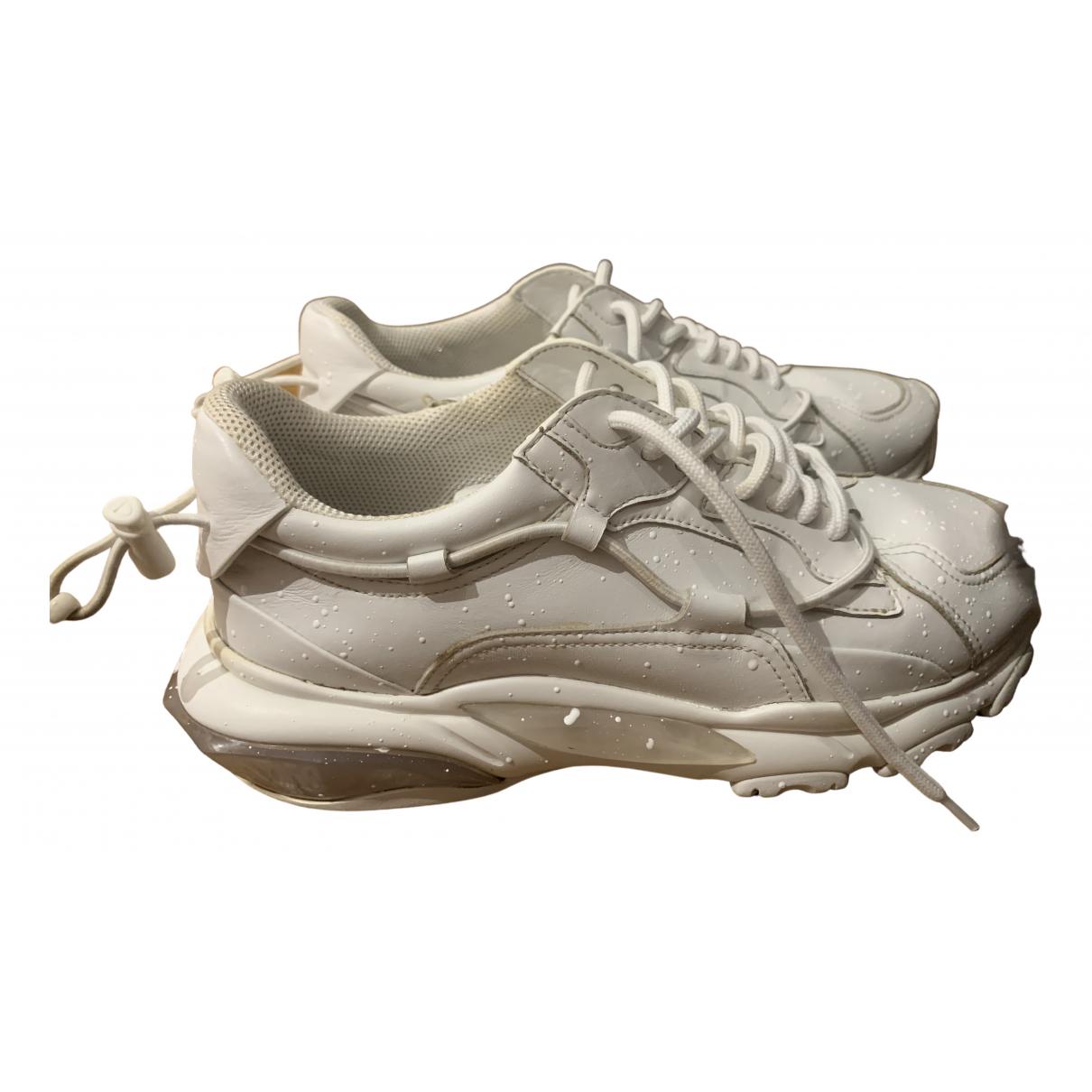 Valentino Garavani \N White Leather Trainers for Men 42 EU