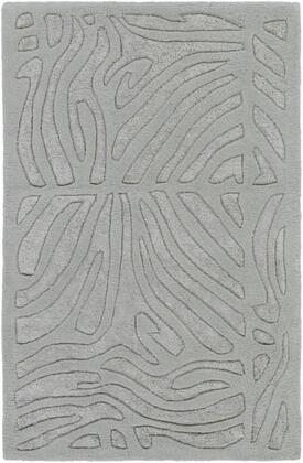CAN1935-58 5' x 8' Rug  in Medium Gray and Light