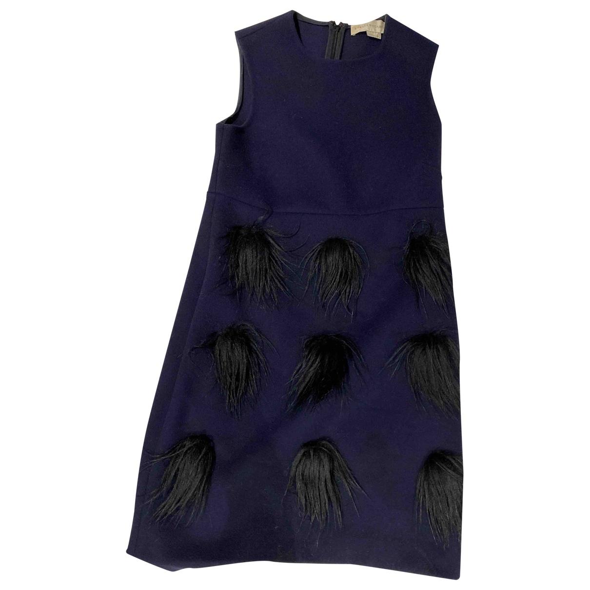 Stella Mccartney \N Kleid in  Blau Wolle