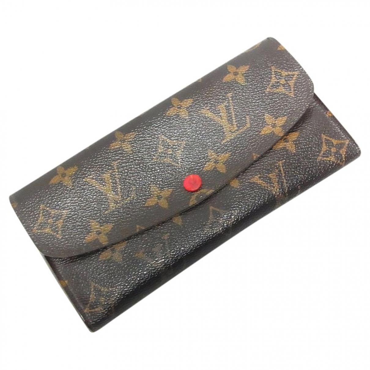 Louis Vuitton - Portefeuille Emilie pour femme en toile - marron