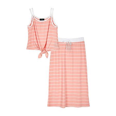 by&by Big Girls 2-pc. Skirt Set, X-large , Orange