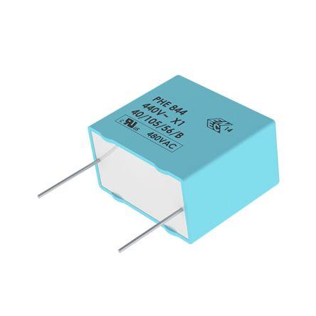 KEMET 470nF Polypropylene Capacitor PP 440 V ac, 1000 V dc ±20% Tolerance Through Hole PHE844 Series (704)