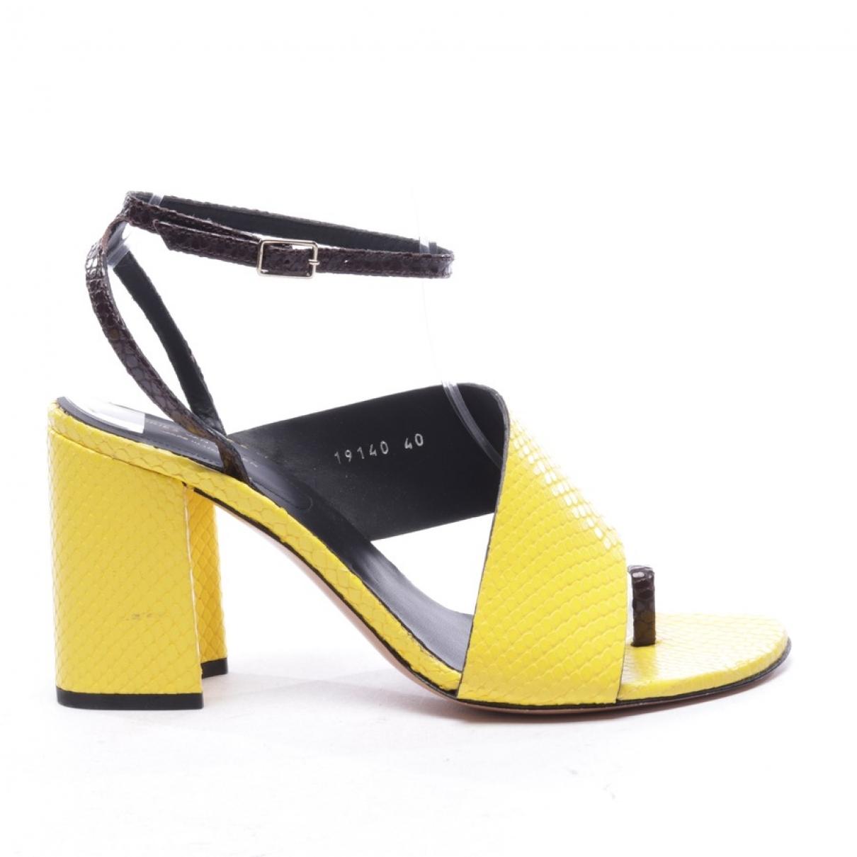 Dries Van Noten N Yellow Exotic leathers Sandals for Women 40 EU