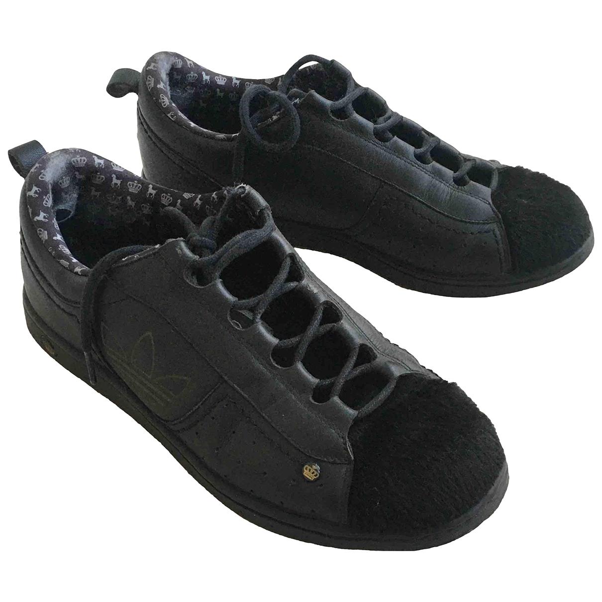 Adidas - Baskets Superstar pour femme en cuir - noir