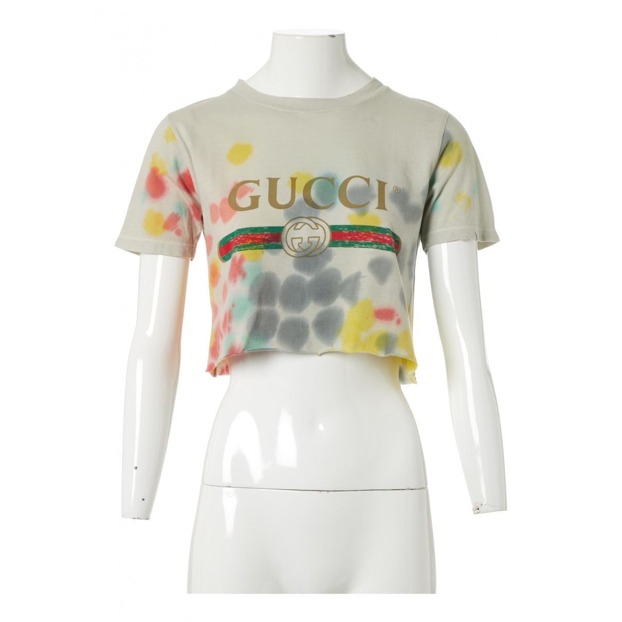 Gucci - Top   pour femme en coton - multicolore