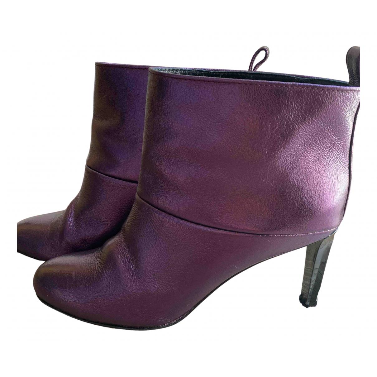 Golden Goose - Boots   pour femme en cuir - violet