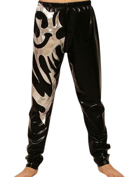 Milanoo Disfraz Halloween Pantalones color block de brillo metalico  Halloween