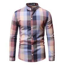 Hemd mit Karo Muster und Knopfen