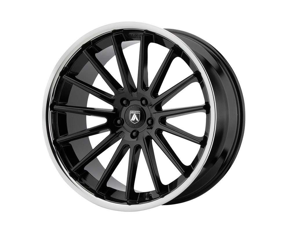 Asanti ABL24-24905232BK Black ABL-24 Beta Wheel 24x9 5x5x120 +32mm Gloss Black Chrome Lip