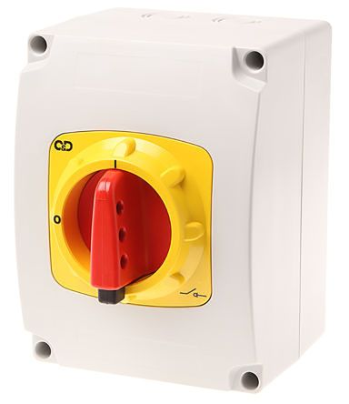 Craig & Derricott 3 Pole Enclosed Non Fused Isolator Switch - 40 A Maximum Current, 15 kW Power Rating, IP65