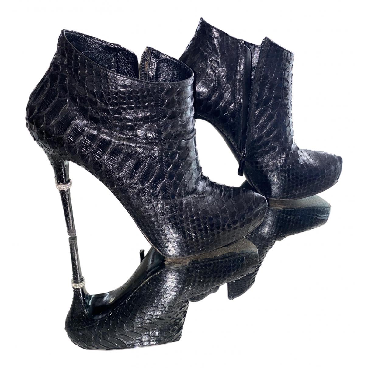 Le Silla N Black Python Heels for Women 41 EU