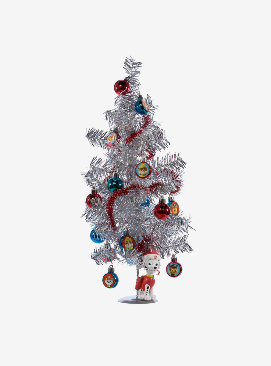 Nickelodeon Kids Paw Patrol Mini Tree With Ornaments And Marshall