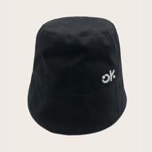 Sombrero cubo de hombres con bordado de letra